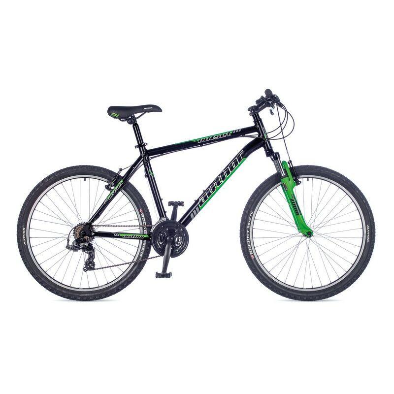"""Outset férfi MTB 26"""" kerékpár, matt fekete/zöld - AUTHOR"""