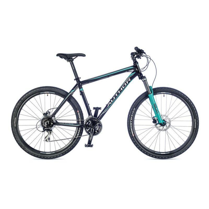"Solution férfi MTB 27,5"" kerékpár, fekete/zöld - AUTHOR"