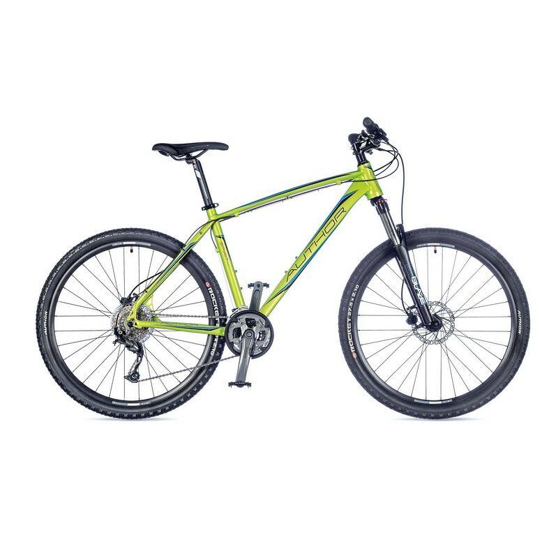 """Spirit férfi MTB 27,5"""" kerékpár, zöld/kék/fekete - AUTHOR"""