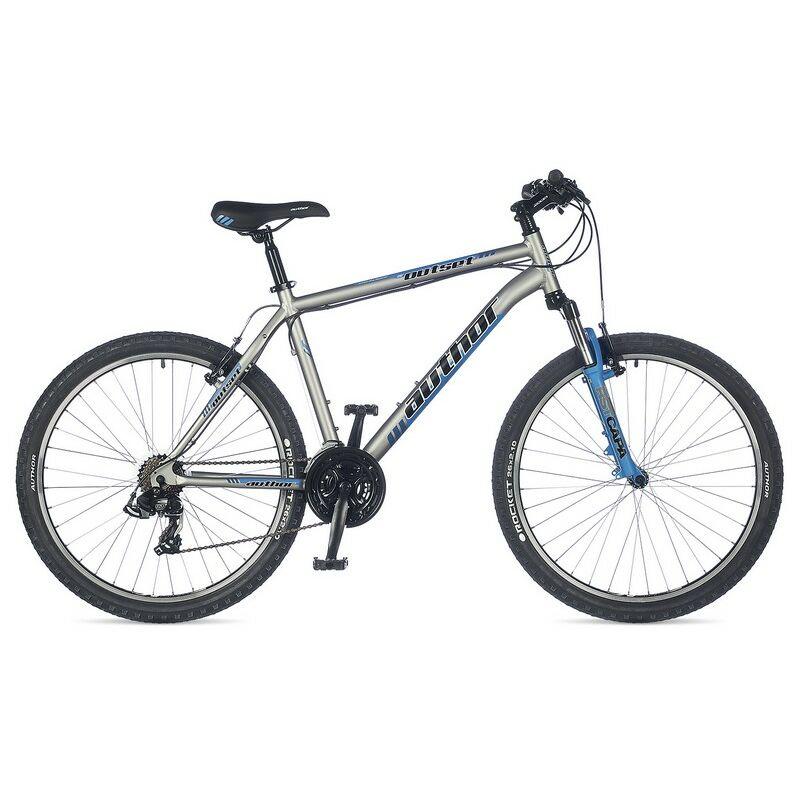 """Outset 26"""" MTB XC kerékpár, matt ezüst/kék - AUTHOR"""