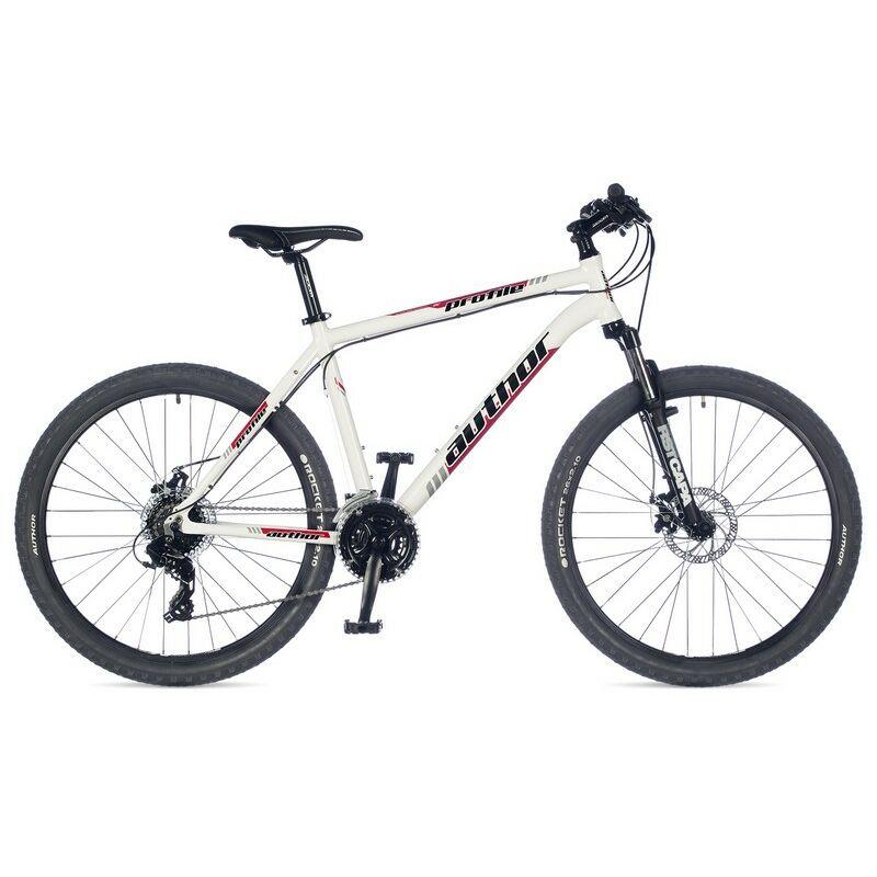 """Profile 26"""" MTB XC kerékpár, fehér/piros/fekete - AUTHOR"""
