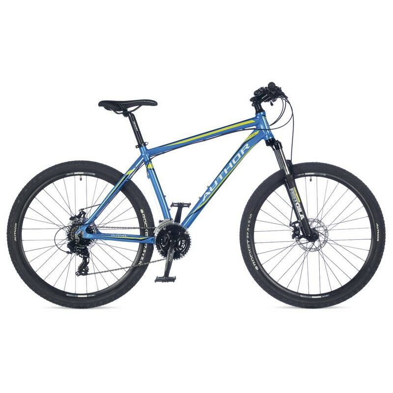 """Rival 27"""" MTB XC kerékpár, kék/lime/fekete - AUTHOR"""