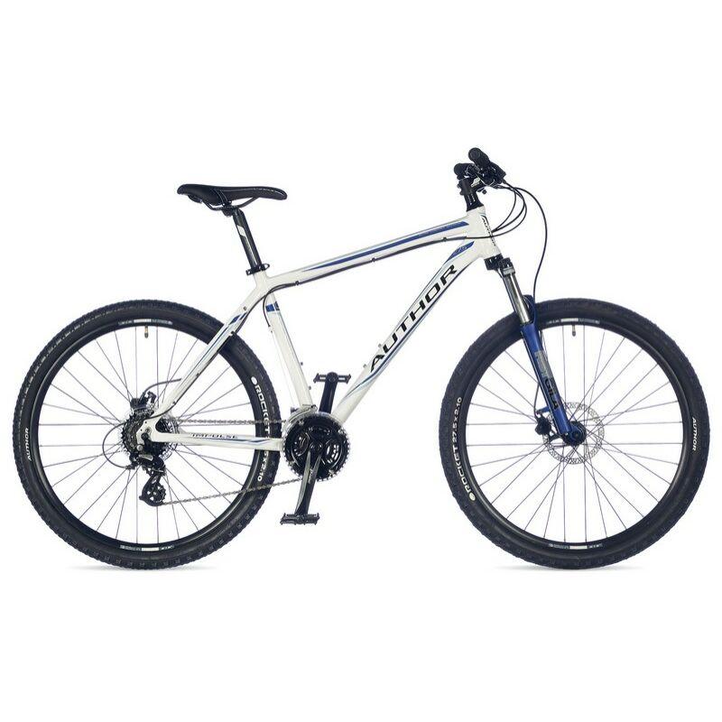 """Impulse 27"""" MTB XC kerékpár, fehér/kék - AUTHOR"""
