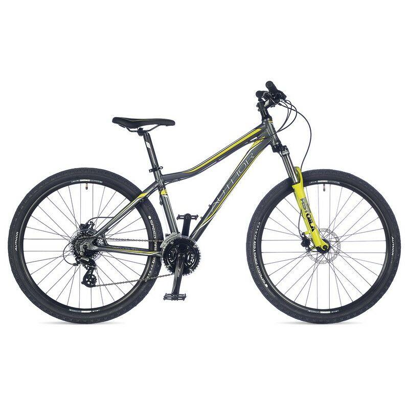 """Impulse ASL női 27"""" MTB kerékpár, matt szürke/lime - AUTHOR"""