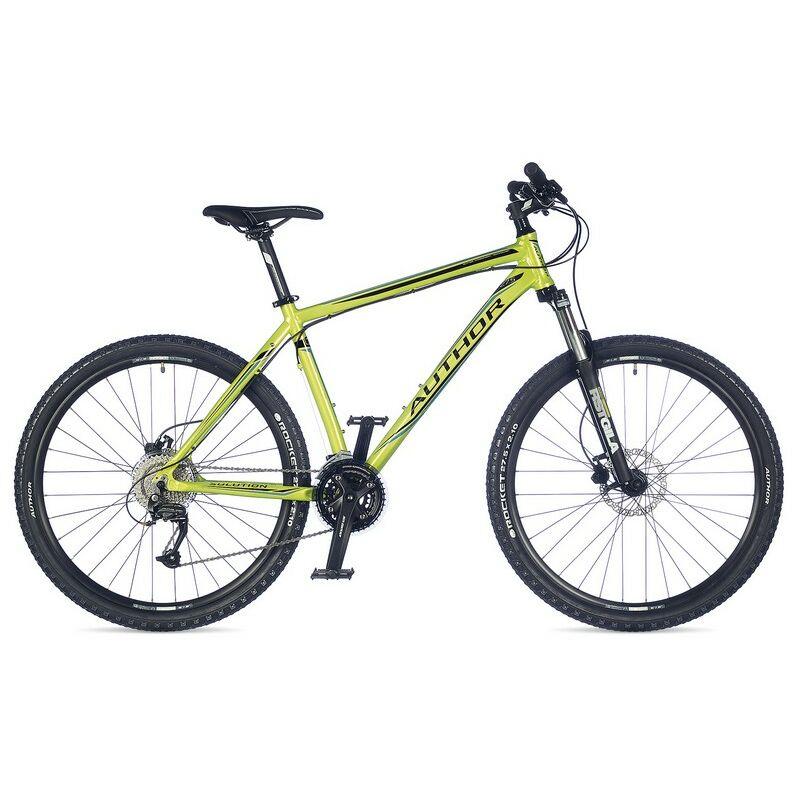 """Solution 27"""" MTB XC kerékpár, zöld/kék/fekete - AUTHOR"""