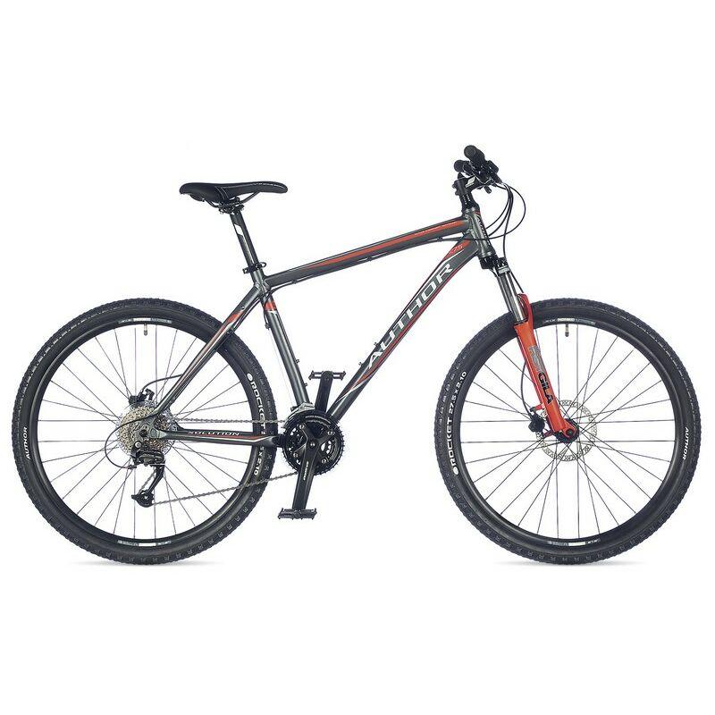 """Solution 27"""" MTB XC kerékpár, matt szürke/narancssárga - AUTHOR"""