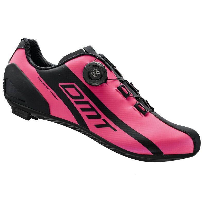 R5 országúti kerékpáros cipő, fluorit pink/fekete - DMT