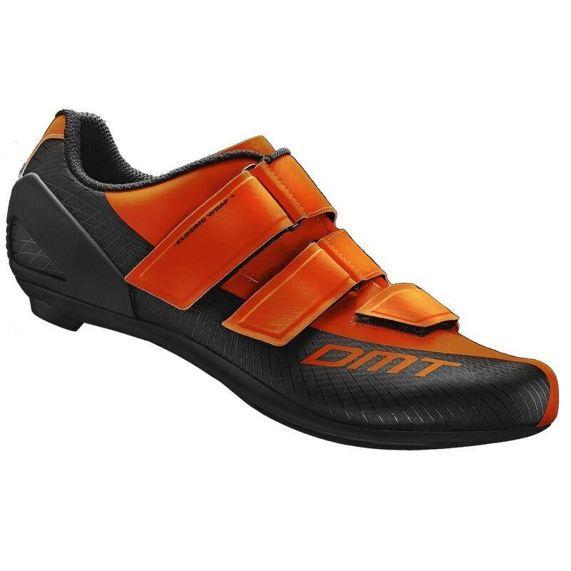 R6 országúti kerékpáros cipő, fluorit narancs/fekete - DMT