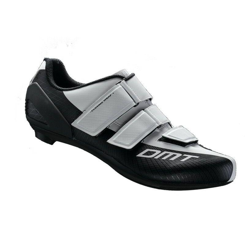 R6 gyerek országúti kerékpáros cipő, fehér/fekete - DMT