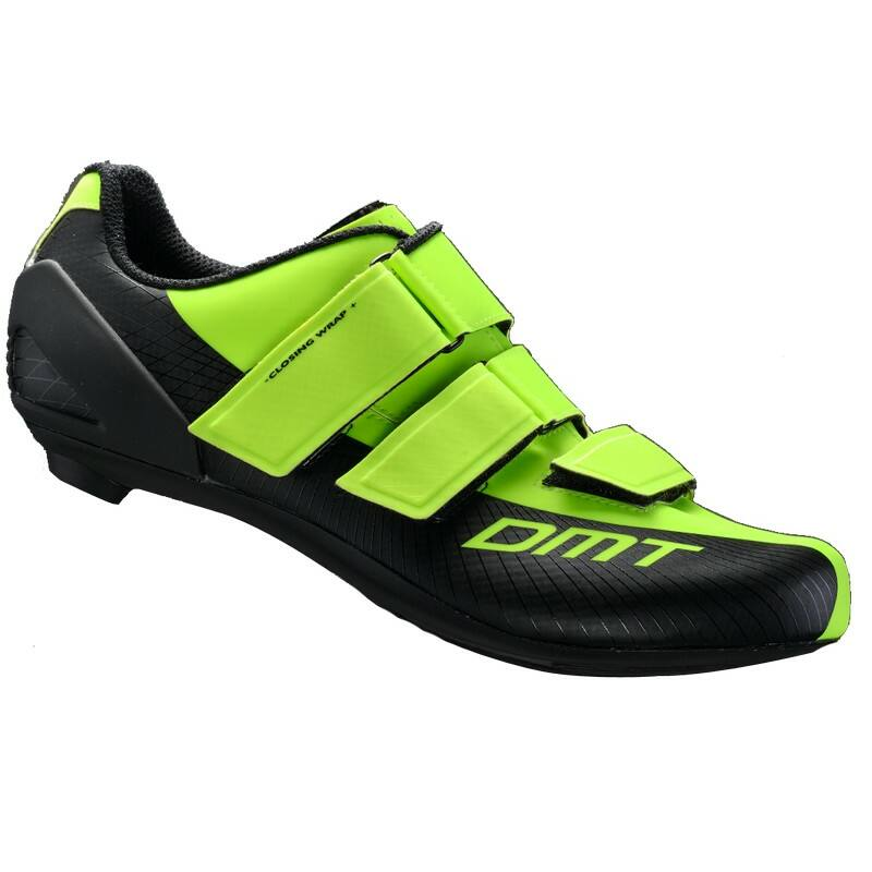 R6 országúti kerékpáros cipő, fluorit sárga/fekete - DMT