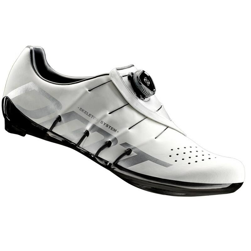 RS1 országúti kerékpáros cipő, fehér/ezüst - DMT