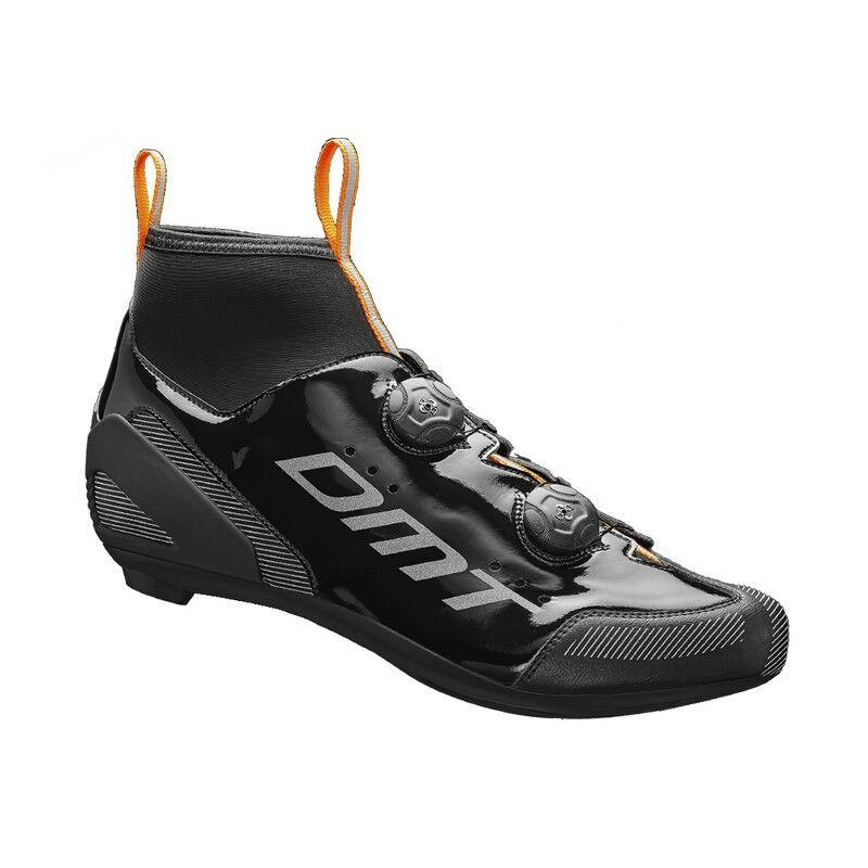 WR1 országúti kerékpáros cipő téli, fekete/narancs/ezüst - DMT