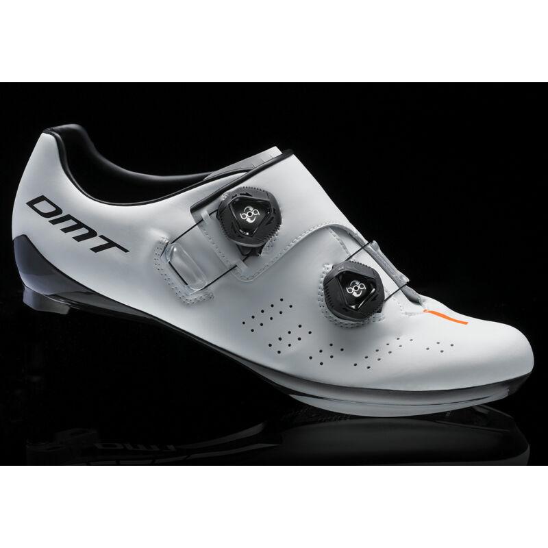 D1 országúti kerékpáros cipő, fehér/fekete/narancs - DMT