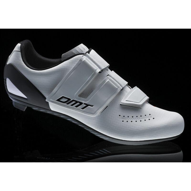 D6 KID gyerek országúti kerékpáros cipő, fehér/fekete/narancs - DMT